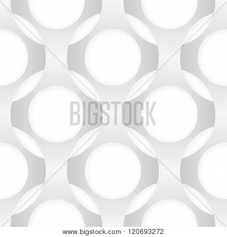Seamless Vector Abstract Pattern. Intertwining Forms