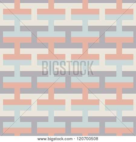 Simple Geometric Vector Seamless Color Pattern - Multicolor Figures Background