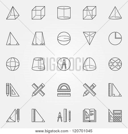 Geometry icons set