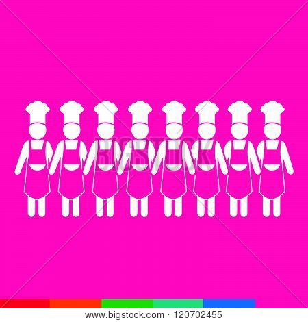 Can images of ooking Chef people Icon Illustration design