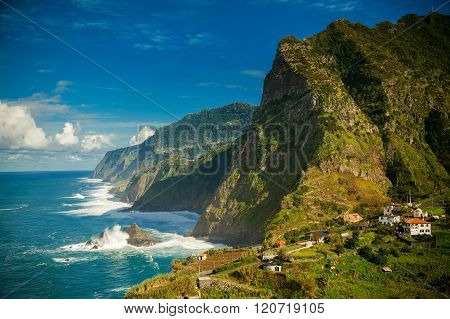 Stunning View Of The Northern Coast Of Madeira