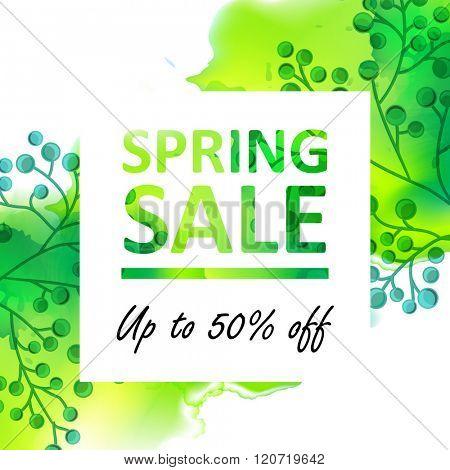 Spring floral sale banner