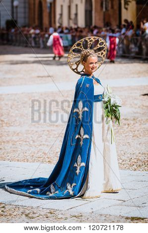 Beautiful Lady Of The Middle Ages