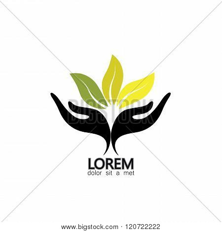 Concept Of Wellness, Protecting Nature - Vector Graphic. Also Represents Concepts Like Environment P