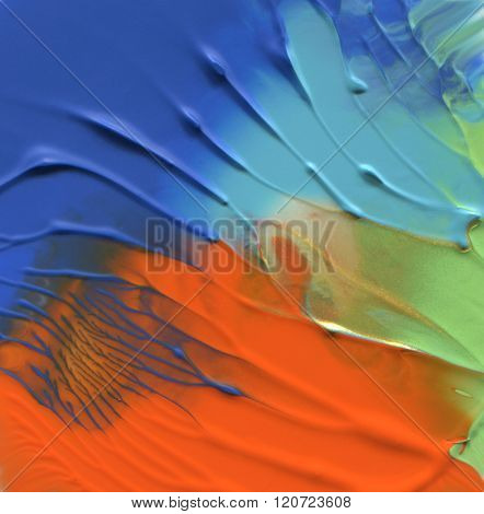 Abstract acrylic and watercolor brush strokes painted background. poster