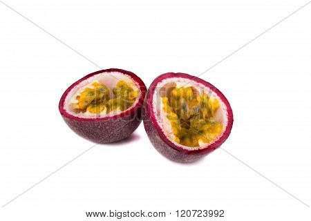 Exotic Passionfruit Isolated On White Background