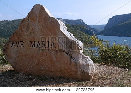 Ave Maria Rock Monument By The Road