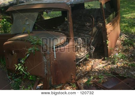 Abandoned Antique Car