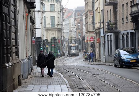 Winter day in Antwerp
