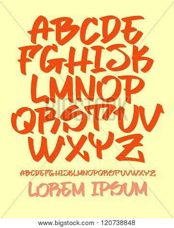 Graffiti Font - Hand Written - Vector Alphabet
