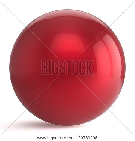Sphere button round red ball geometric shape basic circle solid figure simple minimalistic atom element single drop shiny glossy sparkling object blank balloon icon