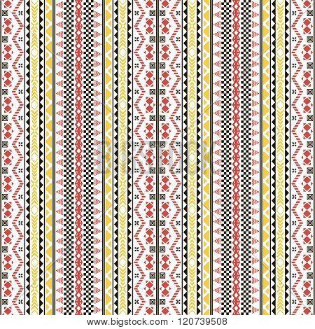 Seamless Geometric Pattern In Folk Style