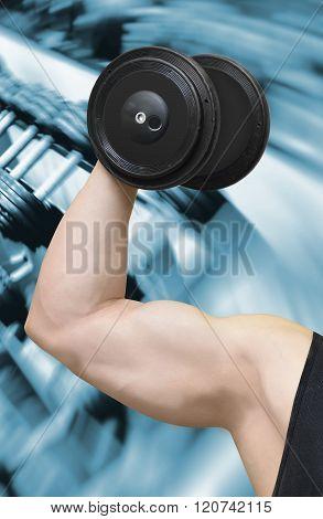Bodybuilder And Gym