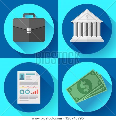 Business icons and general office vector set