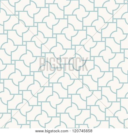 Vector Abstract Seamless Pattern. Simple Blue And White Pastel Texture