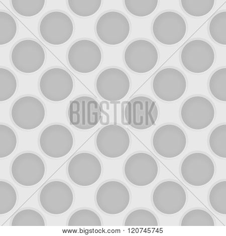 Vector Perforated Light Gray Seamless Pattern. Industrial Abstract Background
