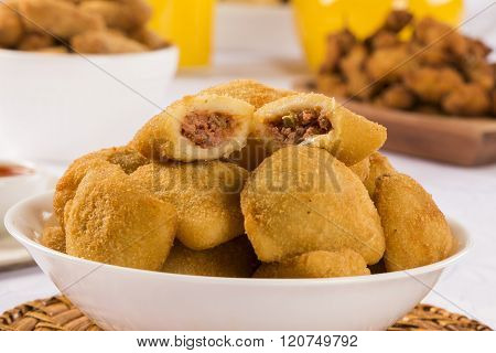 Rissole - Meat Rissole Served With Chili Sauce.