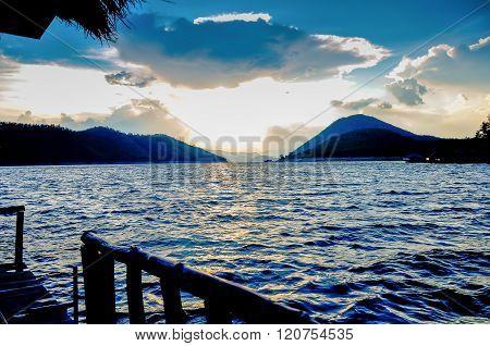 Lake resort style Maldives