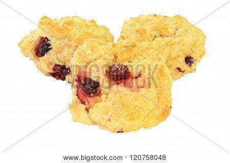 Lemon Cranberry Tea Biscuits