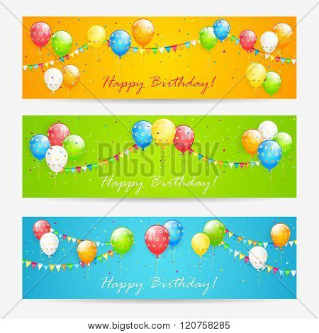 Colorful Birthday Cards With Balloons