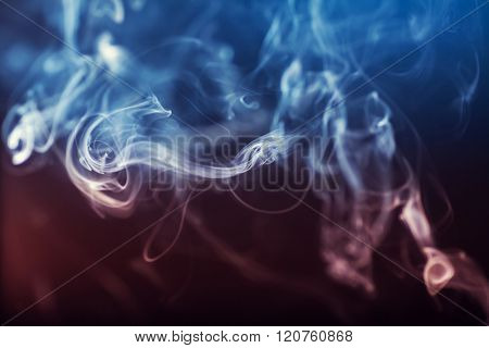 Abstract colorgul Smoke on black background