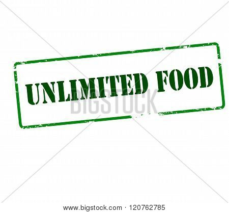 Rubber stamp with text unlimited food inside vector illustration