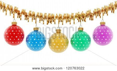 Multi-colored Christmas Baubles