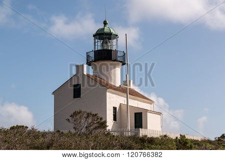 Historic Old Point Loma Lighthouse at Cabrillo National Monument