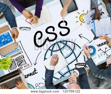 CSS Web Online Technology Web Design Concept