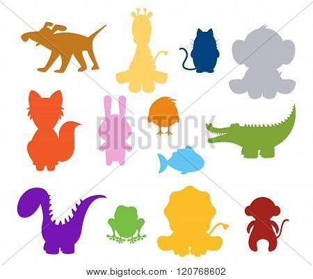 Baby Silhouette Animals