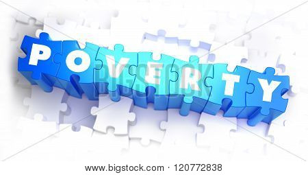 Poverty - Text on Blue Puzzles.