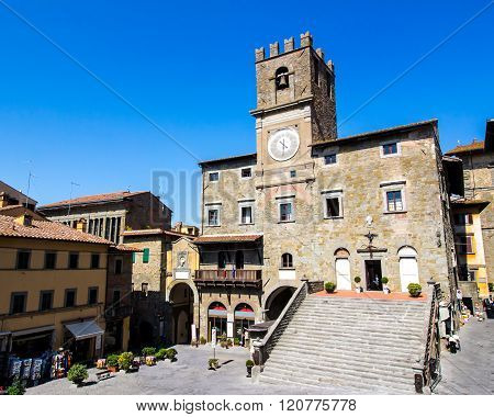 The Town Hall In Cortona, Tuscan , Italy