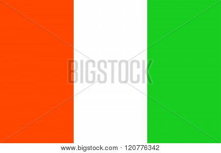 Cote Divoire Flag.