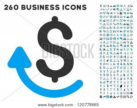 Repay Icon with Flat Vector Set