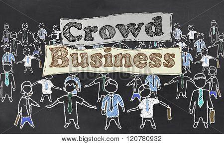 Crowd Business Illustration