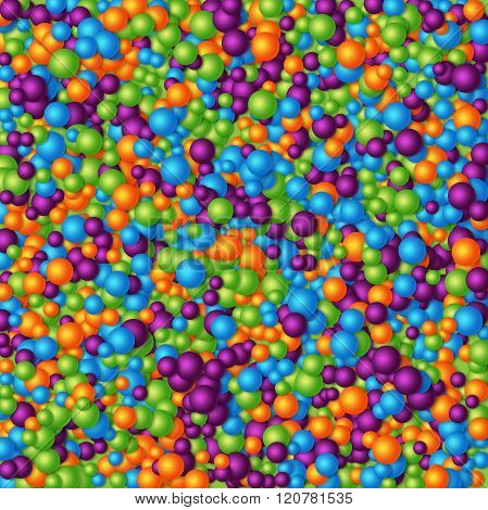 Colored abstract 3d particles background