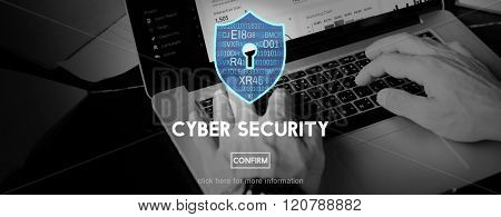 Cyber Security Online Protection Safe Concept