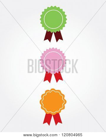 A collection of vector ribbons in various colours