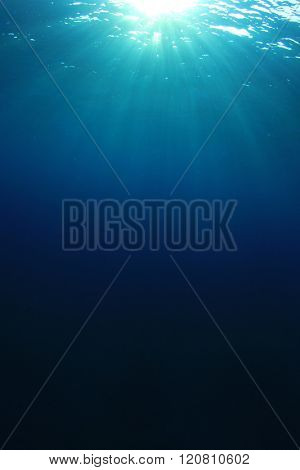 Underwater abstract blue ocean background