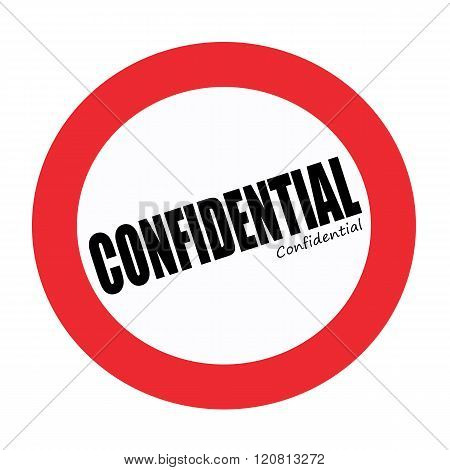 an images of CONFIDENTIAL black stamp text on white poster