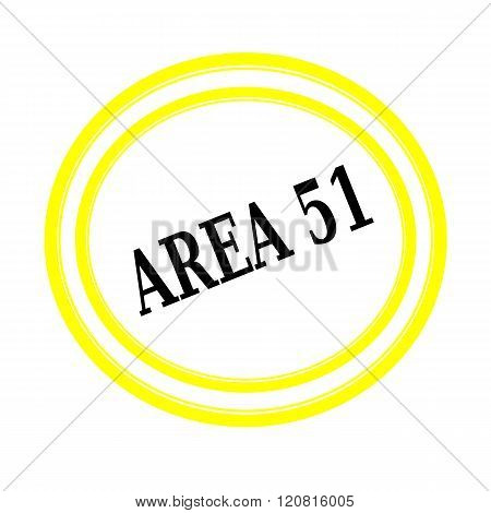 AREA 51 black stamp text on white backgroud