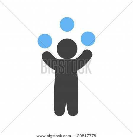 Juggling, juggler, balls icon vector image. Can also be used for outdoor fun. Suitable for use on web apps, mobile apps and print media. poster
