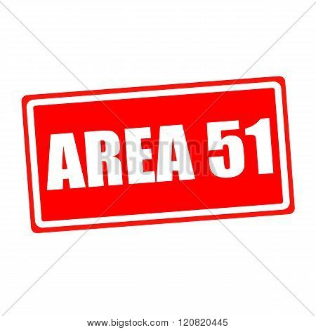 Area 51 white stamp text on red backgroud