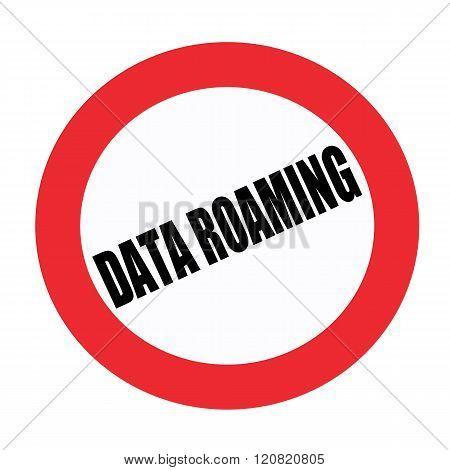 Data roaming black stamp text on white