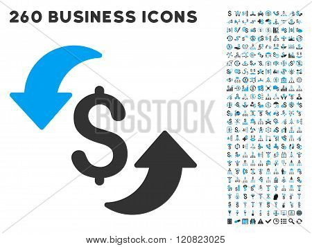 Update Cost Icon with Flat Vector Set