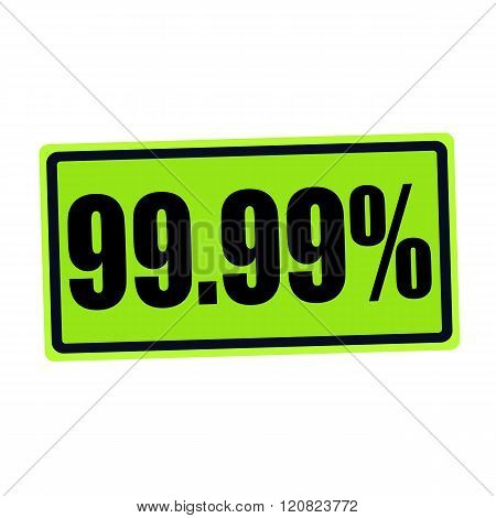 an images of 99.99% black stamp text on green