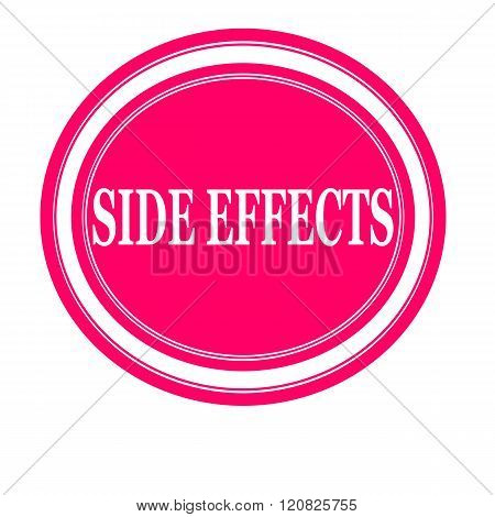 Side effect white stamp text on pink