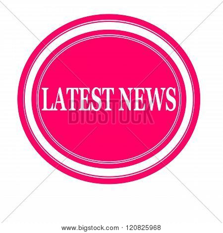 Latest news white stamp text on pink