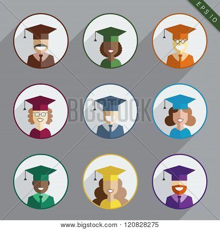 Men And Women Graduates Of The World