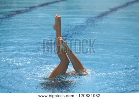 Synchronized swimmer legs
